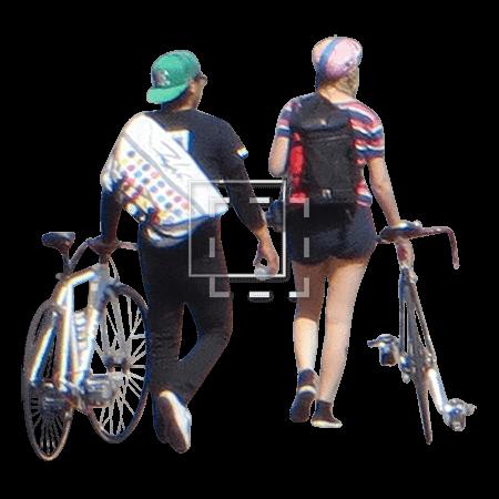 Man on a Folding Bike
