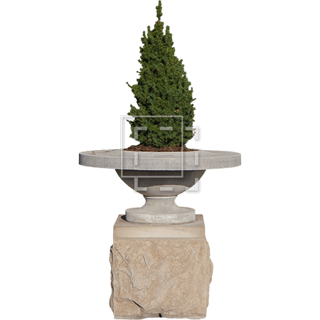 Christmas Tree Stone Planter