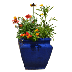 Blue Squarish Vase