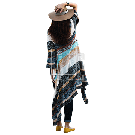 Woman in Pancho