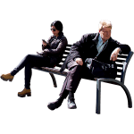Just Two People Sitting On A Bench The Man Looks Like He Told Part Of His Life Story La F